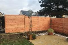 clôture d'angle en douglas