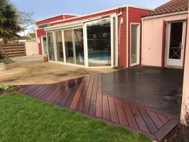 terrasse ipe avec agrandissement en cumaru