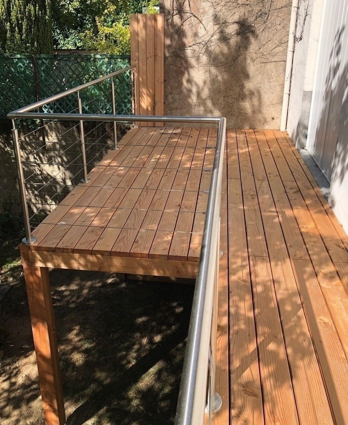 Terrasse Surélevée En Acier création de terrasse - phil'in bois