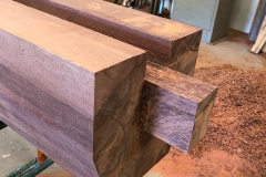 fabrication élément d'une porte d'écluse en azobé
