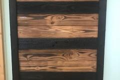 panneau présentation bois brûlé 2 façonnages